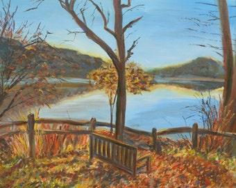 """Radnor Lake ORIGINAL 28""""x22"""" Acrylic Painting"""