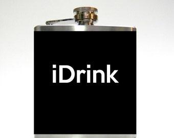 iDrink hipster flask