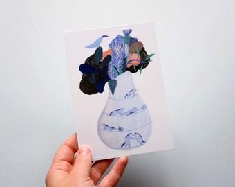 Postcard // Illustration // A bouquet