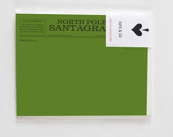 SANTAGRAM Postcard with envelope GREEN