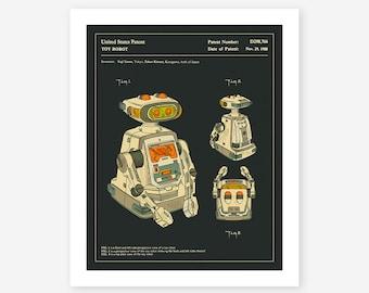 ROBOT (1985), Giclée fine art print, Retro pop art for the home decor (dark version)