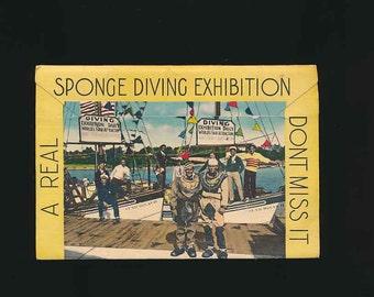 Sponge Diving souvenir booklet St Nicholas jungle tours Florida 1930's