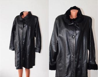 Vintage Genuine Leather COAT, size M-L / 38-40, ON SALE