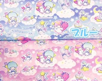 SANRIO Little Twin Stars  / Japanese Fabric 110cm x 50cm