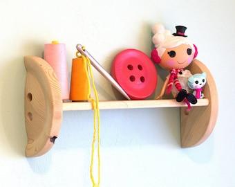 Shelf - Button Wall Shelf - Sewing Room Shelving