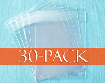 30-Pack, 8 1/4 x 10 1/4 Cello Bags, Resealable Clear Cello Bags for 8x10 Photos