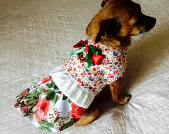 Dog Dress, Small Dog Dress, Dog Clothes, Dog Clothing, Custom to Fit, Toy Dog Dress, Teacup Dog Dress, Yorkie Dress, Shih Tzu Dress