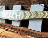Wood Beach Sign - Arrow Beach Sign - Rustic Beach Decor - Beach House Decor - Pallet Wood Sign
