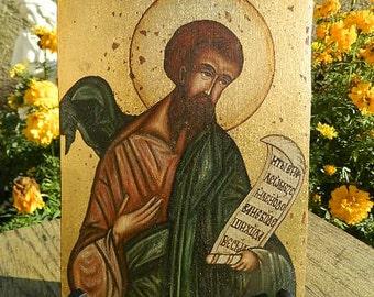 Religious wooden plaque