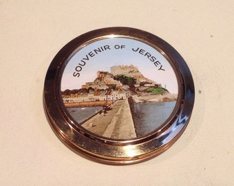 Small Vintage Souvenir of Jersey Compact