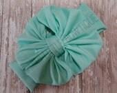 Mint Green Head wrap- Girl Turban-Baby Boho headband-  Mint  Bow - Mint Headband- Mint Green Headwrap
