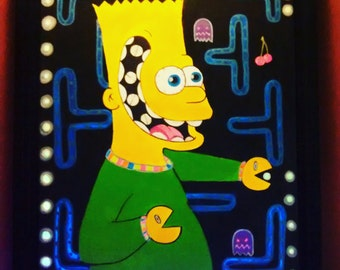 16x20 bart simpson rave painting