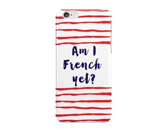 French iPhone case - Striped iPhone 7 Case