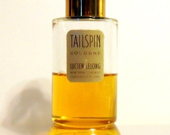 Vintage 1950s Tailspin by Lucien Lelong 2 oz Cologne Splash PERFUME