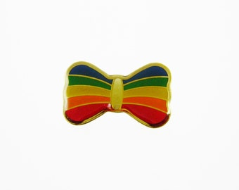 Rainbow Bow Pin