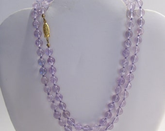 Purple Quartz Bead Necklace