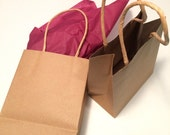 Small brown gift bag for an ornament