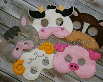 Barnyard Animals Masks Use coupon code SAVE15 to save 15%