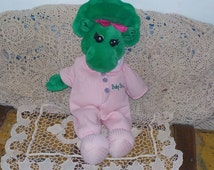 Baby Bop Pink Thermal PJ Plush Bean Bag Stuffed Animal From Barney/Not included in Discount Coupon Sale :)S