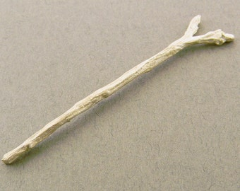silver twig casting, ring shank, jewelry making supply, sterling silver finding UT041