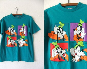 GOOFY Vintage Tee - Disney 90s Throwback Retro Cartoons Mickey Mouse T Shirt - Mens Small