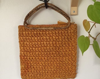 Woven straw purse 50s/60s Vintage Marcus Brothers of Miami