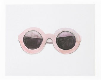 Pink Sunnies Art Print