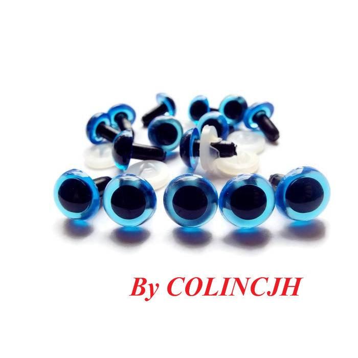Craft Safety Eyes Amigurumi : 12mm Blue Safety Eyes / Plastic Eyes Amigurumi Animals Craft