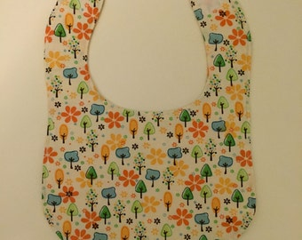 Bib with Trees - Save the Trees Hippie Baby Bib