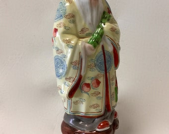 Vintage Chinese Immortal LǏ Tiěguǎi Porcelain Figurine Statuette