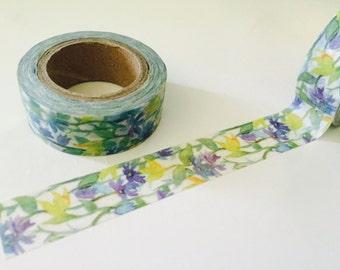 Periwinkle Floral Vine Washi Tape