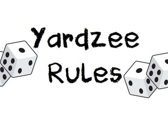 PRINTABLE. Yardzee RULES . Yardzee Board. Lawn Yahtzee Score Card Rules. Digital Download