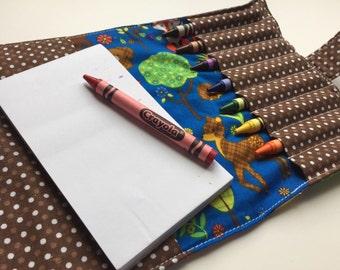 Crayon Wallet Woodland Animals, Birthday Party Favor