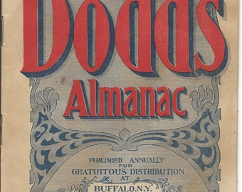 Antique 1902 DODD'S ALMANAC