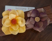 Brown and Gold Hair Clips Baby Hair Clips Toddler Hair Clips Girls Hair Clips Flower Hair Clips Adult Hair Flowers