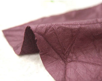 Fake Leather Fabric, Imitation Leather, Artificial Leather, Synthetic Leather Fabric - Wine - 53 Inches Wide - By the Yard 83993