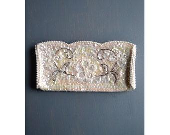 vintage bead purse / wedding purse