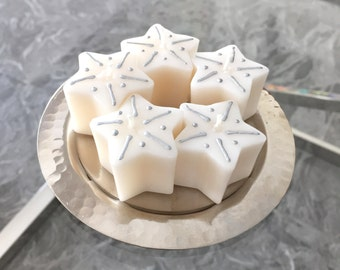 Mini Star Candles on a Moroccan plate