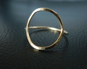 Gold Circle Ring, Stacked Ring, Eternity Ring, Geometric Ring