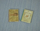 OFFER Gaël Miniature decorative two shabby chic magazines, tea books childbook  1:12 Scale Or 1/6 Scale Dollhouse Miniature playscale