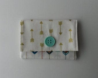 On the Go Fabric Wallet-Arrows