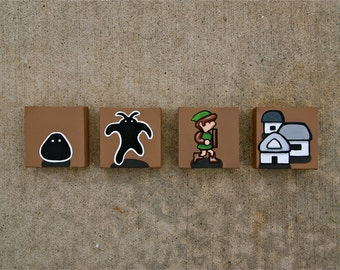 "Zelda 2: The Adventure of Link painting 4"" X 4"" (4X)"