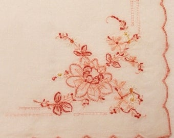 Vintage Handkerchief with Embroidery