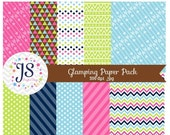 80% OFF - INSTANT DOWNLOAD, glamping digital paper for commercial use or personal use