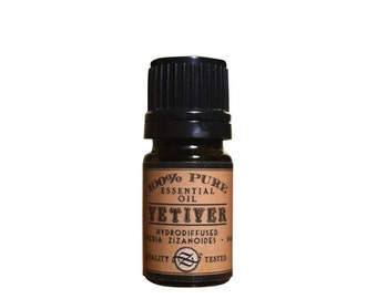 Vetiver Essential Oil, Vetiveria zizanioides, Hydrodiffused, Haiti - 5 ml