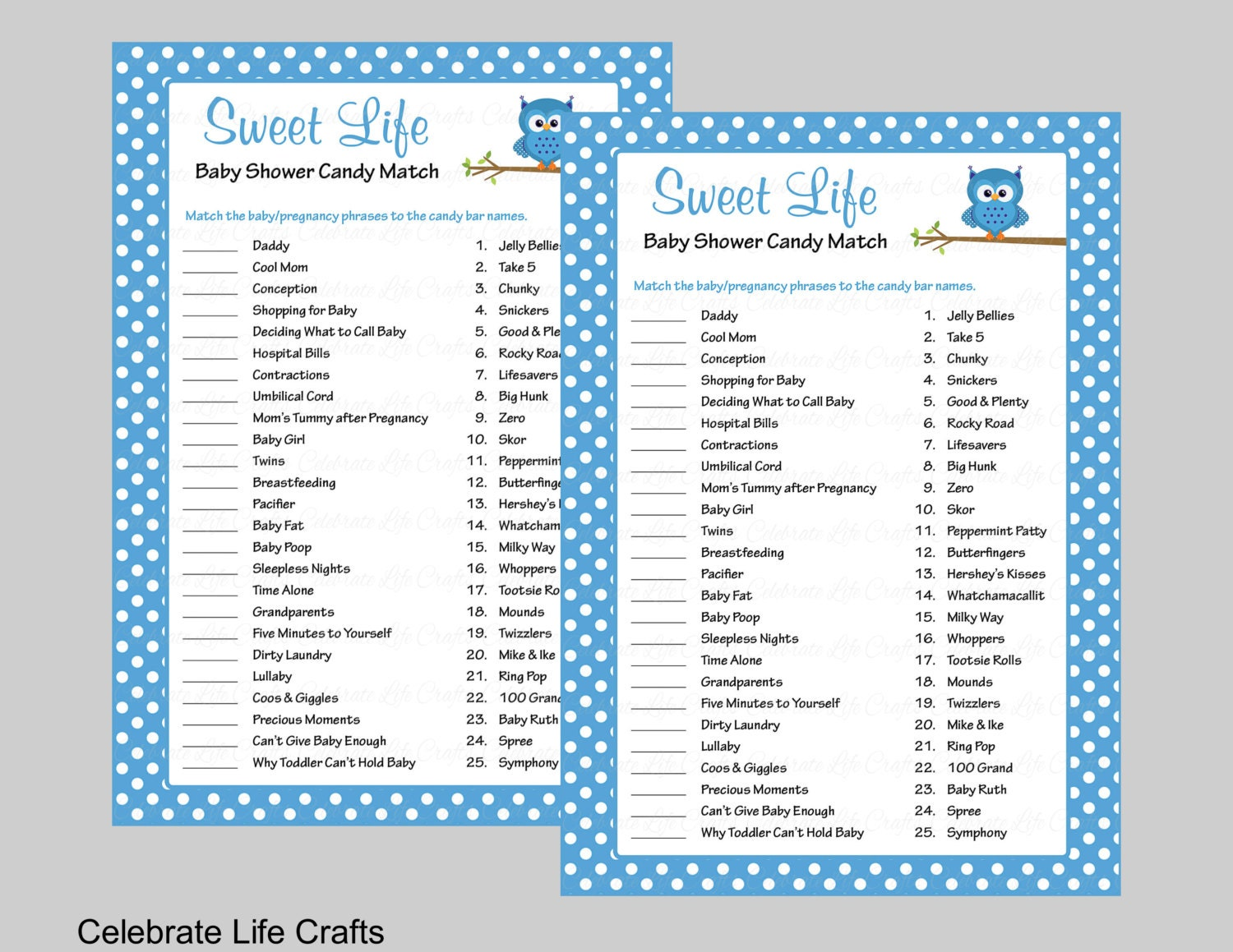 Delicate image within printable baby shower games with answer key