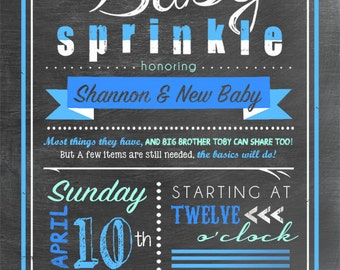 Customized Sprinkle Shower Invitation - 5 x 7 - Choose your colors