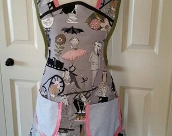 Fun apron done in The Ghastlies print fabric.