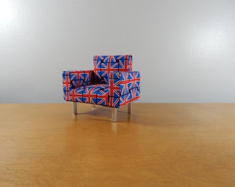 Miniature 1/12 Scale  Modern Union Jack Chair