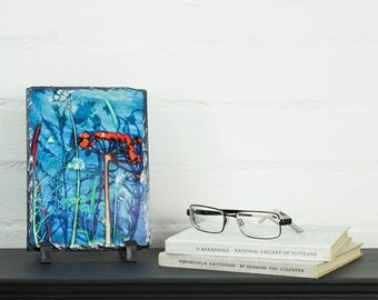 Artistic, Dancing Shadow,  Art Slate Print, Birthday Gift